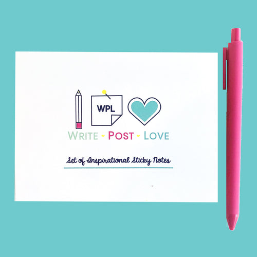 Sticky Notes White - Double Pack (Double the notes in one folder) - Write Post Love