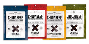 4 Bag Sampler Pack - Chudabeef Jerky Co. | Premium Beef Jerky