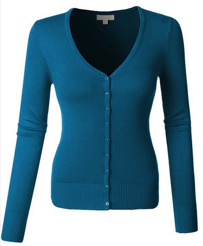 Plus Sized V-neck Cardigan