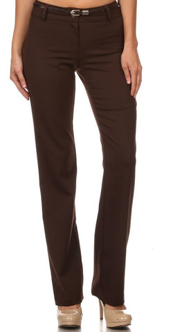Women's Office Pants with Belt