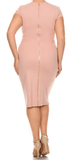 Solid Knit Body-con Dress