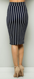 Pin Stripe Pencil Skirt
