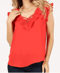 Ruffle Sleeveless Blouse