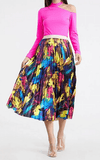 Multi Print Pleated Skirt