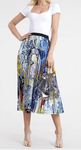 Brilliant Blue Pleated Skirt