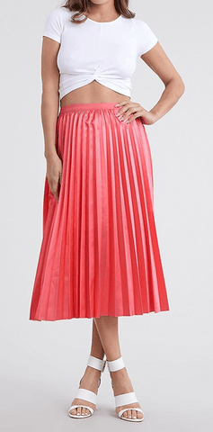 Peach Bloom Pleated Skirt