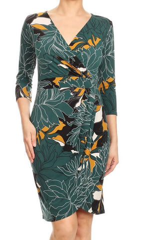 Leaf Print Relaxed Fit Dress