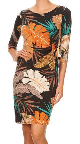 Multi Print Relaxed Fit Dress
