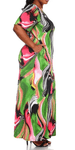 Swirl Print Maxi Dress