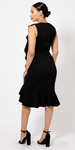 Ruffle Flow Evening Dress