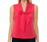 Relaxed Sleeveless Style Office Blouse