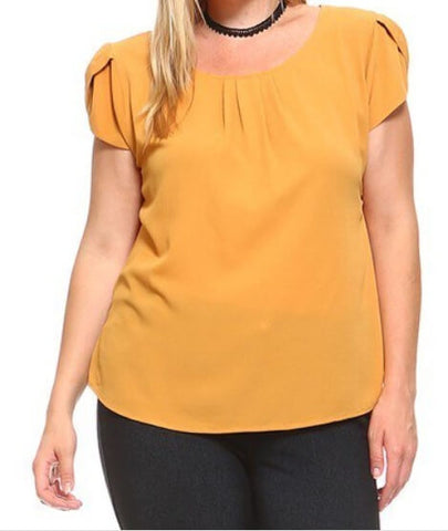 Tulip Sleeve Office Top