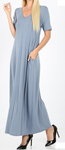 Short Sleeve Long Maxi Dress
