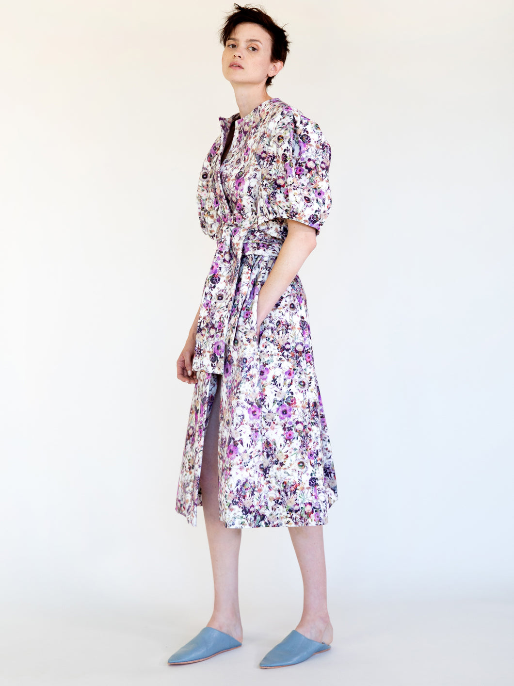 GAVIN PRINT SCULPTURED COAT DRESS- sold out