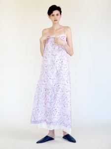 LONG SLIP DRESS WITH HABOTAI UNDERSLIP