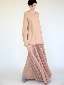 SUNBURST PLEATED SKIRT WITH SLIT
