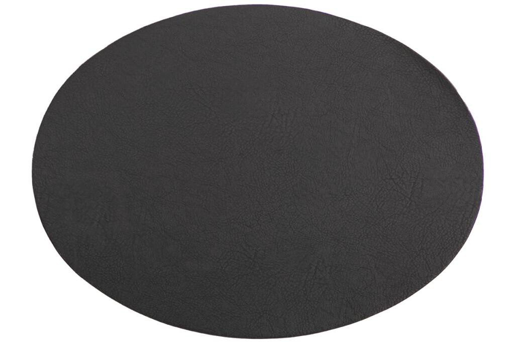Placemat Tiseco Troja ovaal 33 x 45 cm black