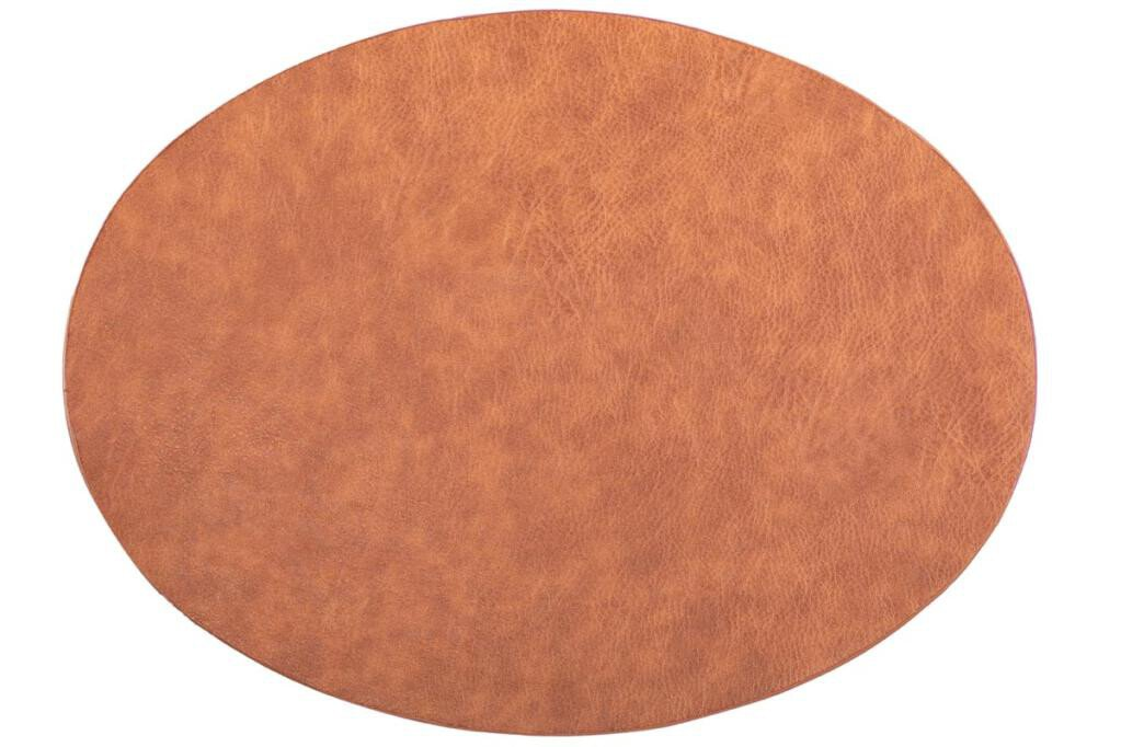 Placemat Tiseco Troja ovaal 33 x 45 cm caramel