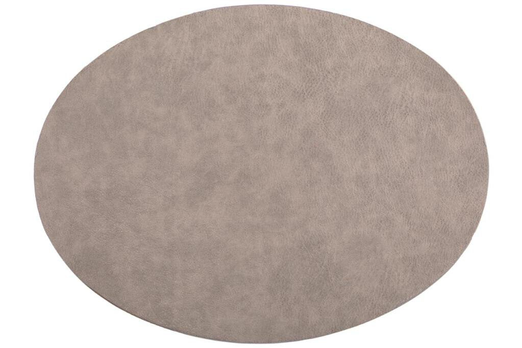 Placemat Tiseco Troja ovaal 33 x 45 cm grey
