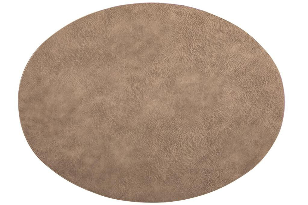 Placemat Tiseco Troja ovaal 33 x 45 cm taupe