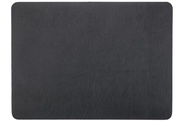 Placemat Tiseco leather look imitation 33 x 45 cm black