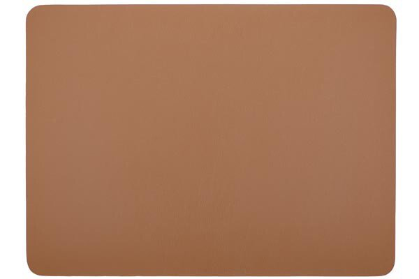 Placemat Tiseco leather look imitation 33 x 45 cm camel