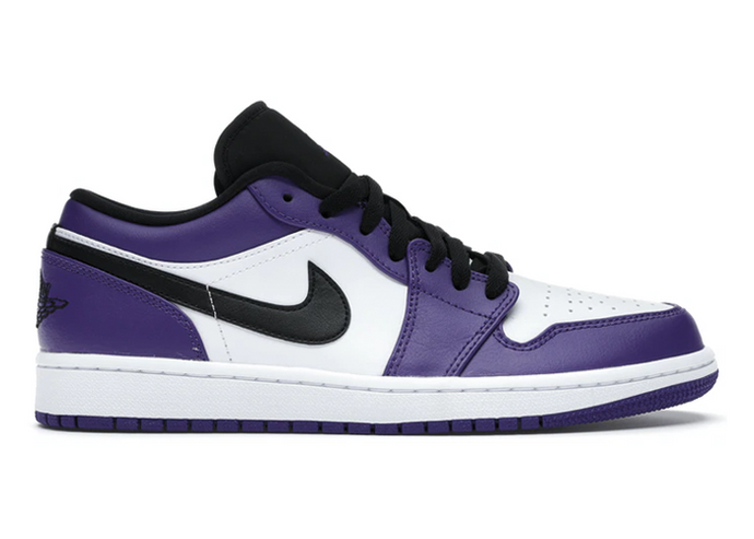 Jordan 1 Low Court Purple White - sneakergott.de