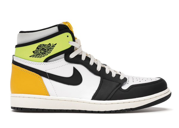 Jordan 1 Retro High White Black Volt University Gold