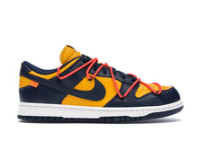Laden Sie das Bild in den Galerie-Viewer, Nike Dunk Low Off-White University Gold Midnight Navy - sneakergott.de