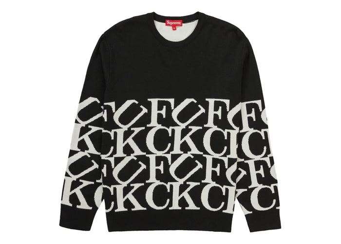 Supreme Fck Sweater Black - Sneakergott