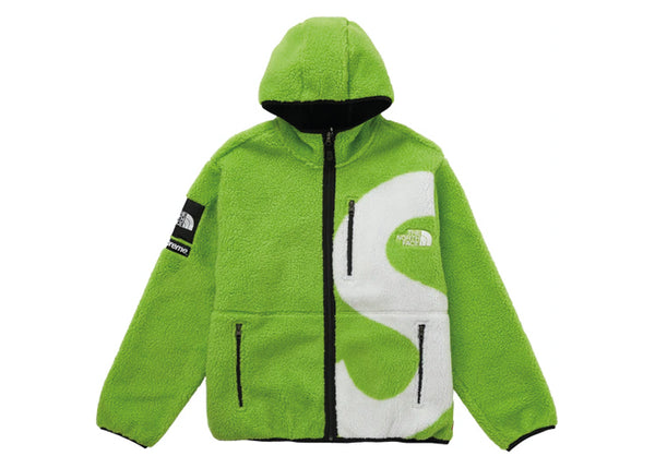Supreme The North Face S Logo Fleece Jacket Lime - Sneakergott