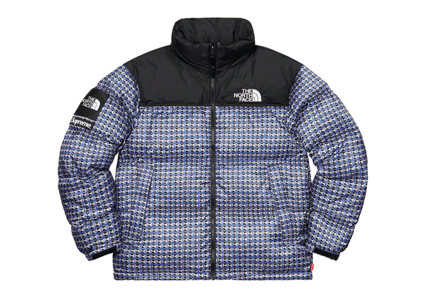 Supreme x The North Face Studded Nuptse Jacket Royal - Sneakergott
