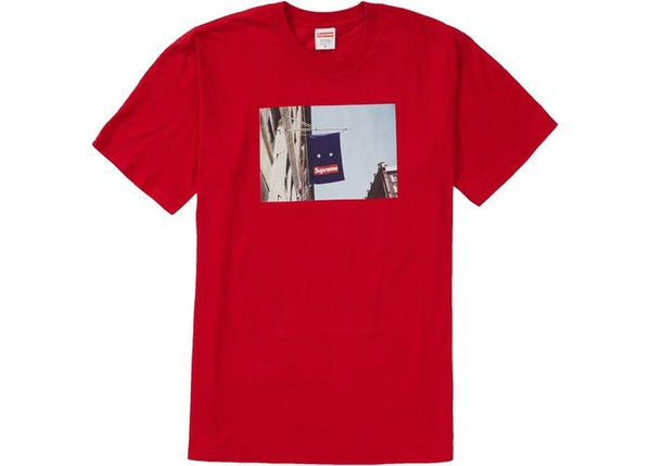 Supreme Banner T-Shirt Tee Red (FW19) - Sneakergott