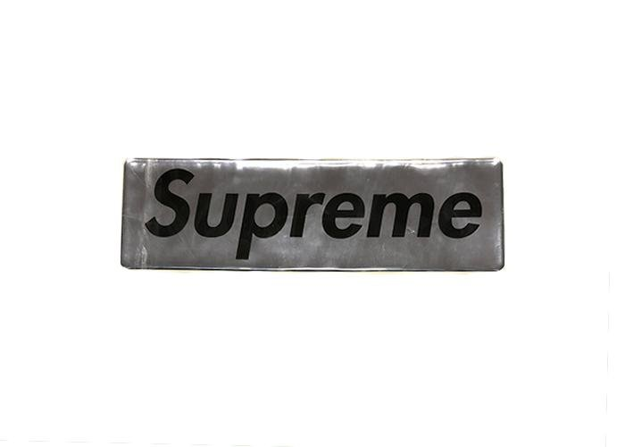Supreme Plastic Box Logo Sticker Silver - Sneakergott