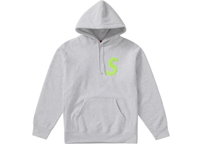 Supreme S Logo Hooded Sweatshirt (FW19) Ash Grey - sneakergott.de