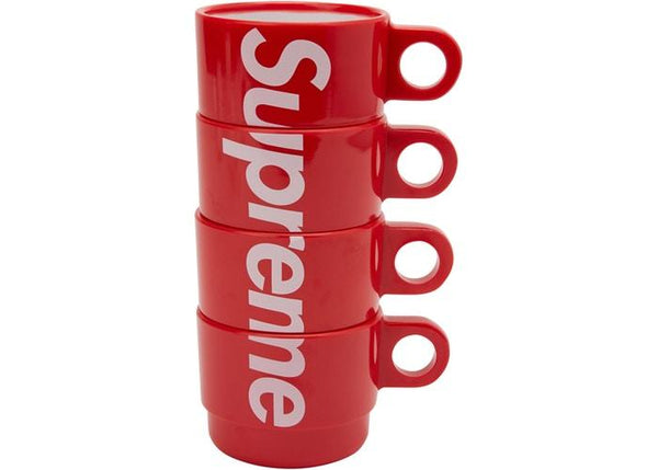 Supreme Stacking Cups (Set of 4) Red - Sneakergott