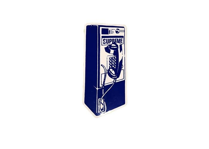 Supreme Telephone Booth Sticker - Sneakergott