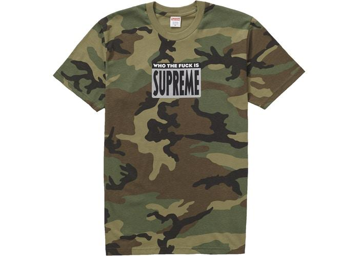 Supreme Who The Fuck Tee Woodland Camo - Sneakergott