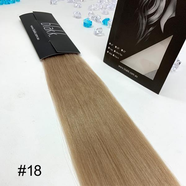 "#18 & 18"" tape in hair extensions"