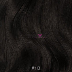 "20"" Skin Weft Tape Hair Extensions - #1B - Gadiva Hair Extensions - Blakk Hair Extensions"