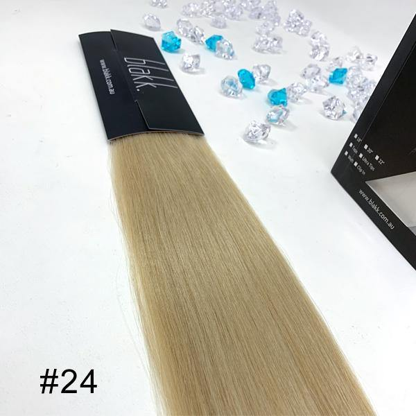tape extensions - hair color #24 - Blakk Hair Extensions