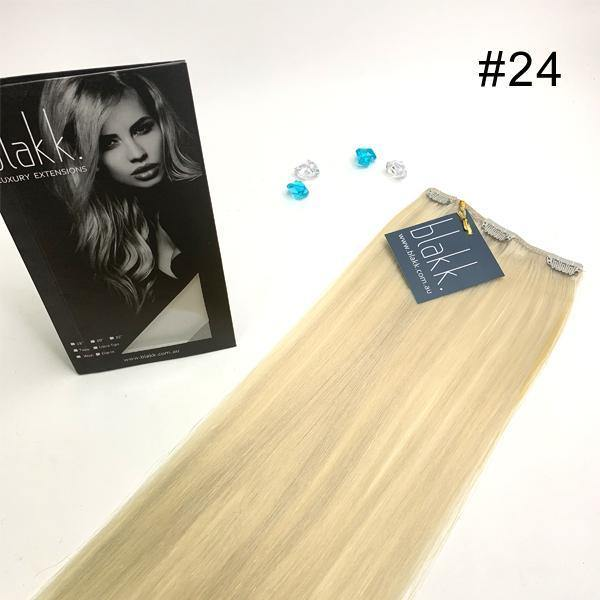 #24 BLAKK INDIVIDUAL Hair Extensions Clip In - Blakk Hair Extensions