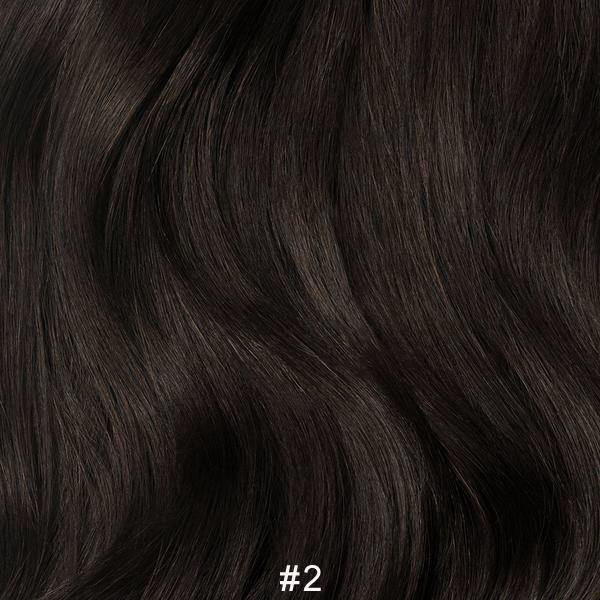#2 DARK BROWN Hair Extensions Weft - Blakk Hair Extensions
