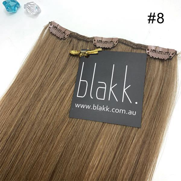 Hair color #8 - Clip in hair extensions