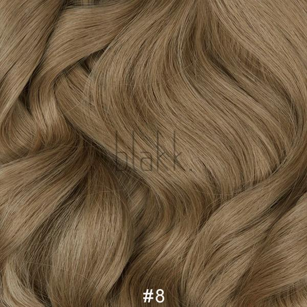 #8 LIGHT BROWN Hair Extensions Weft - Blakk Hair Extensions