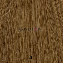 "20"" Skin Weft Tape Hair Extensions - #8 - Gadiva Hair Extensions - Blakk Hair Extensions"