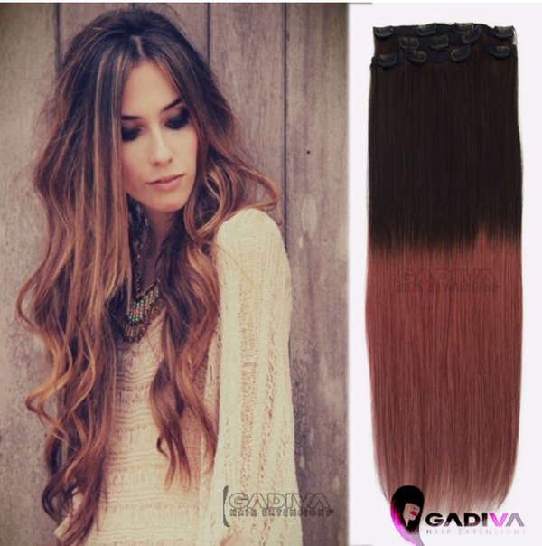 "20"" Hair Extensions BALAYAGE- #T1B-35 - Gadiva Hair Extensions - Blakk Hair Extensions"
