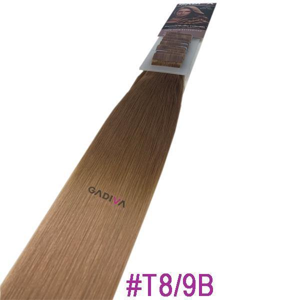 TAPE EXTENSIONS ( BALAYAGE #T8-9B ) - balayage tape hair extensions - Blakk Hair Extensions