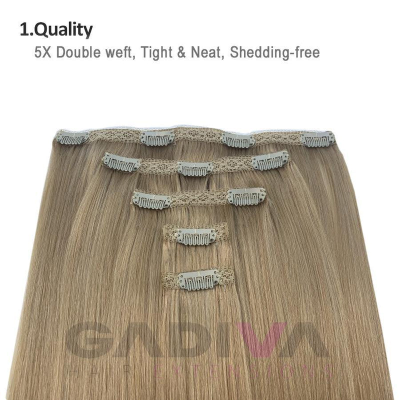 "20"" #7B/16 hair extensions clip in - Gadiva Hair Extensions - Blakk Hair Extensions"