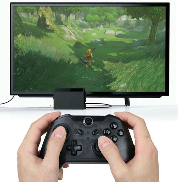 Wireless Bluetooth Pro Controller Gamepad Joypad Remote for Switch Console Classic Video Game Gamer Gaming Emulator Retro Player